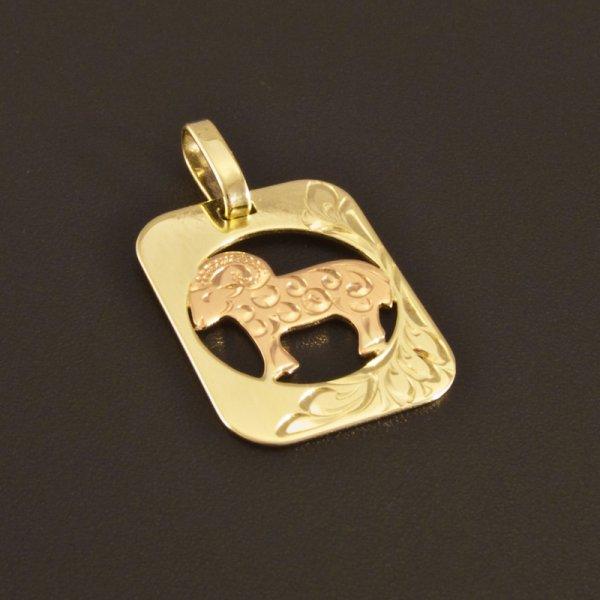 tierkreiszeichen widder in gold