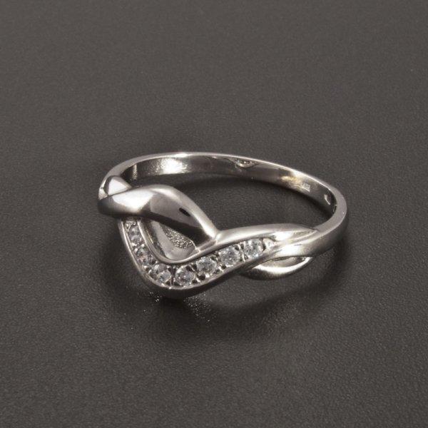 Weißgold Ring Zirkonia Luxuriös Goldpointshopde