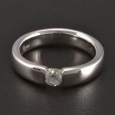 Silber Ring Zirkonia massiv