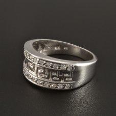 Silber Ring Zirkonias rhodiniert