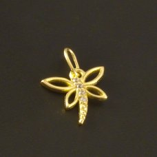 Gold Anhänger Libelle