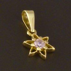 Gold Anhänger Blumenstrauß
