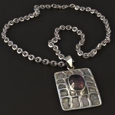 Silber-Halskette Zirkonia massiv