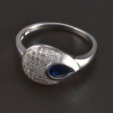 Silberring mit Safir