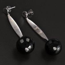 Silber Ohrhänger Onyx