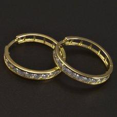 Gold Creolen mit Zirkonias