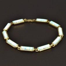 Goldarmband Opalen