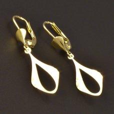 goldene Ohrhänger