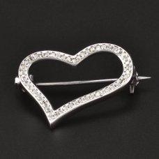 Silber Brosche Herz