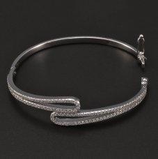 silberne Armband mit Zirkonia rhodiniert
