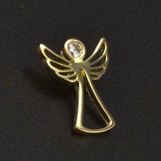 Golden Anhänger mit Briliant Engel