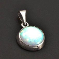Silberanhänger mit einem weißen Opal