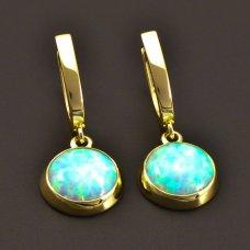 Opalohrringe mit einem Opal