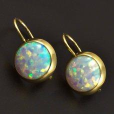 Opal Ohrringe mit klassischer Befestigung