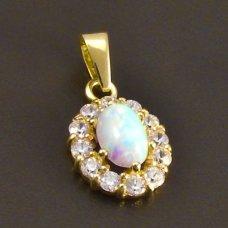 Goldanhänger mit Opal