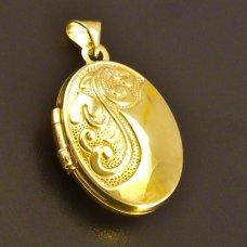 Medaillon Goldanhänger