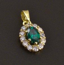 Goldanhänger mit Smaragd