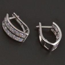 Silber Öhrringe mit Zirkonia