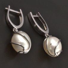 PerlenÖhrringe aus Weißgold
