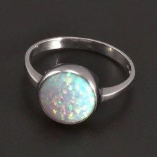 Weißgoldring mit Opal