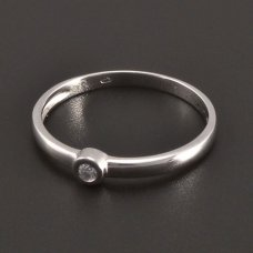 Weißgold-Ring  runder Diamant