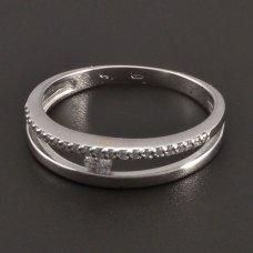 Weißgold-Ring 23st. Diamanten