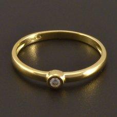 Goldring mit  Diamant
