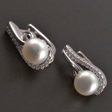 Silberperlen Ohrringen