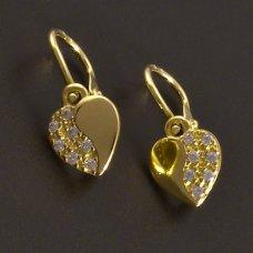 Gold-Kinder Ohrringe-Herz