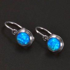 Silberkinderohrringe mit Opal