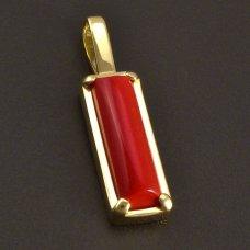 Goldanhänger rote Koralle