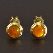 Goldene Ohrstecker Opal