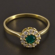Goldring mit Smaragd