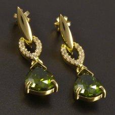 Ohrringe mit Mildavit 585/1000