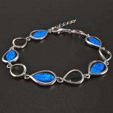 Armband mit blauem Opal