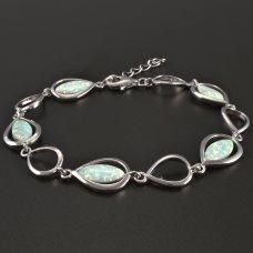 Silber-Opal-Armband