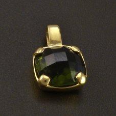 Moldavite in Anhänger Gold 585