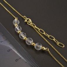 Goldene Halskette mit Kristall