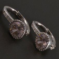 Ohrringe mit rosa Zirkon Silber925