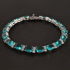 Silber-Armband-Grün-Zirkonia