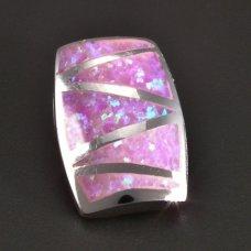 Silberanhänger-Rosa-Opal
