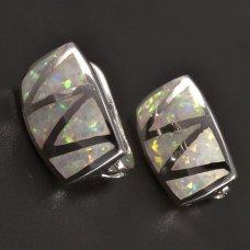 Opalohrringe Silber