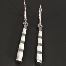 Silber Ohrhänger mit Opál