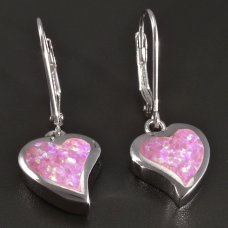 Silberne Ohrringe-pink