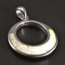 Silberanhänger-rund