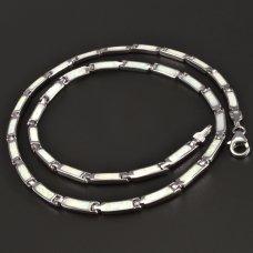 Opal-Collier-Silber