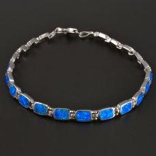 Opal-Silberarmband