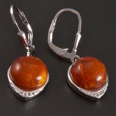 Ohrhänger in Silber- Koralle