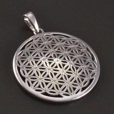 Blume des Lebens -Silberanhänger