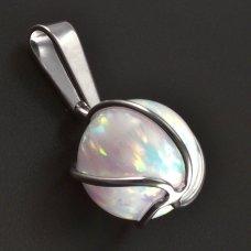 Opal-Anhänger-Silber